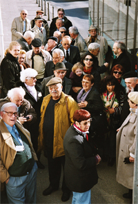 Meeting of survivors of the Buna/Monowitz concentration camp in Frankfurt am Main, 2004'© Eva & Artur Holling