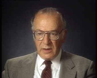 Norbert Wollheim, still image from the video of an interview on May 10/17, 1991'© United States Holocaust Memorial Museum