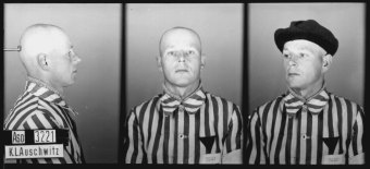 Josef Windeck, the former camp Kapo of Auschwitz I and camp elder of the Buna/Monowitz concentration camp, in a prisoner photo from the Auschwitz concentration camp