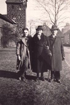 Albert Kimmelstiel with his parents, Fritz and
