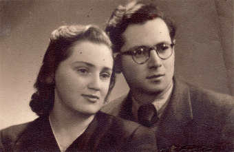 Marcel Ginzig and his wife, Krisha Ginzig, 1947'© Marcel Ginzig