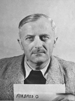 Otto Ambros. Photo from the National Archives, Collection of World War II Crimes Records of the I.G. Farben Trial in Nuremberg'© National Archives, Washington, DC