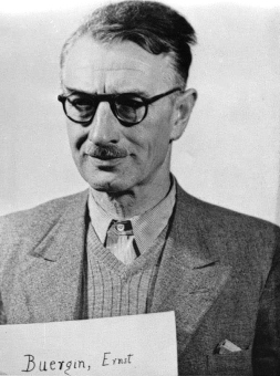 Ernst Bürgin. Fotoaufnahme aus der National Archives Collection of World War II War Crimes Records vom Nürnberger Prozess gegen I.G. Farben'© National Archives, Washington, DC
