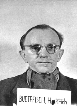 Heinrich Bütefisch. Photo from the National Archives, Collection of World War II Crimes Records of the I.G. Farben Trial in Nuremberg'© National Archives, Washington, DC