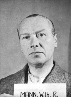 Wilhelm Rudolf Mann. Photo from the National Archives, Collection of World War II Crimes Records of the I.G. Farben Trial in Nuremberg'© National Archives, Washington, DC