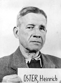 Heinrich Oster. Photo from the National Archives, Collection of World War II Crimes Records of the I.G. Farben Trial in Nuremberg'© National Archives, Washington, DC