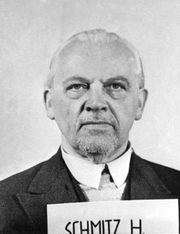 Hermann Schmitz. Photo from the National Archives, Collection of World War II Crimes Records of the I.G. Farben Trial in Nuremberg'© National Archives, Washington, DC