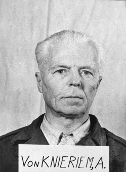 August von Knieriem. Photo from the National Archives, Collection of World War II Crimes Records of the I.G. Farben Trial in Nuremberg'© National Archives, Washington, DC