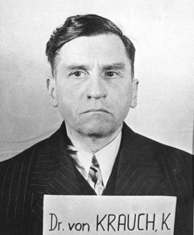 Carl Krauch. Photo from the National Archives, Collection of World War II Crimes Records of the I.G. Farben Trial in Nuremberg'© National Archives, Washington, DC