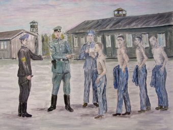 Benjamin Grünfeld: Selection at the Buna/Monowitz concentration camp'© Benjamin Grünfeld