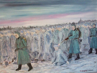 Benjamin Grünfeld: Death march in January 1945'© Benjamin Grünfeld