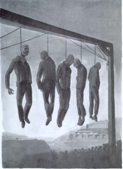 Prisoners who have been hanged'© Maurice de la Pintière papers