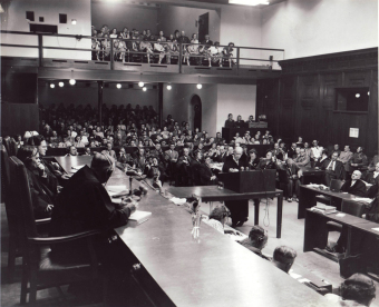 Dr. Boettcher, Carl Krauch's defense counsel in the I.G. Farben Trial at Nuremberg