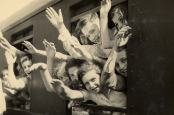 First by train from Berlin…'© United States Holocaust Memorial Museum (Wollheim papers)