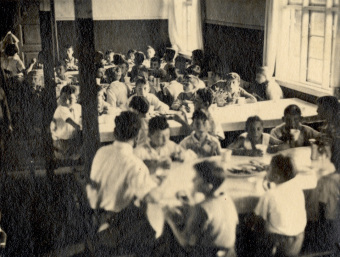 The dining room'© United States Holocaust Memorial Museum (Wollheim papers)