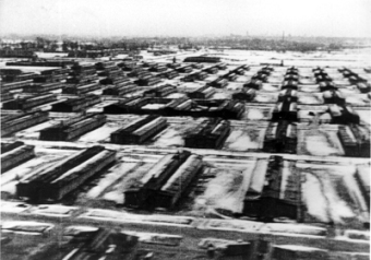 Aerial photo of Auschwitz II (Birkenau), 1944'© National Archives, Washington, DC