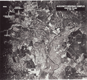 Aerial photo of the Auschwitz camps, 1944'© National Archives, Washington, DC