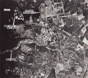 Aerial photo of Auschwitz, 1944 (detail)'© National Archives, Washington, DC